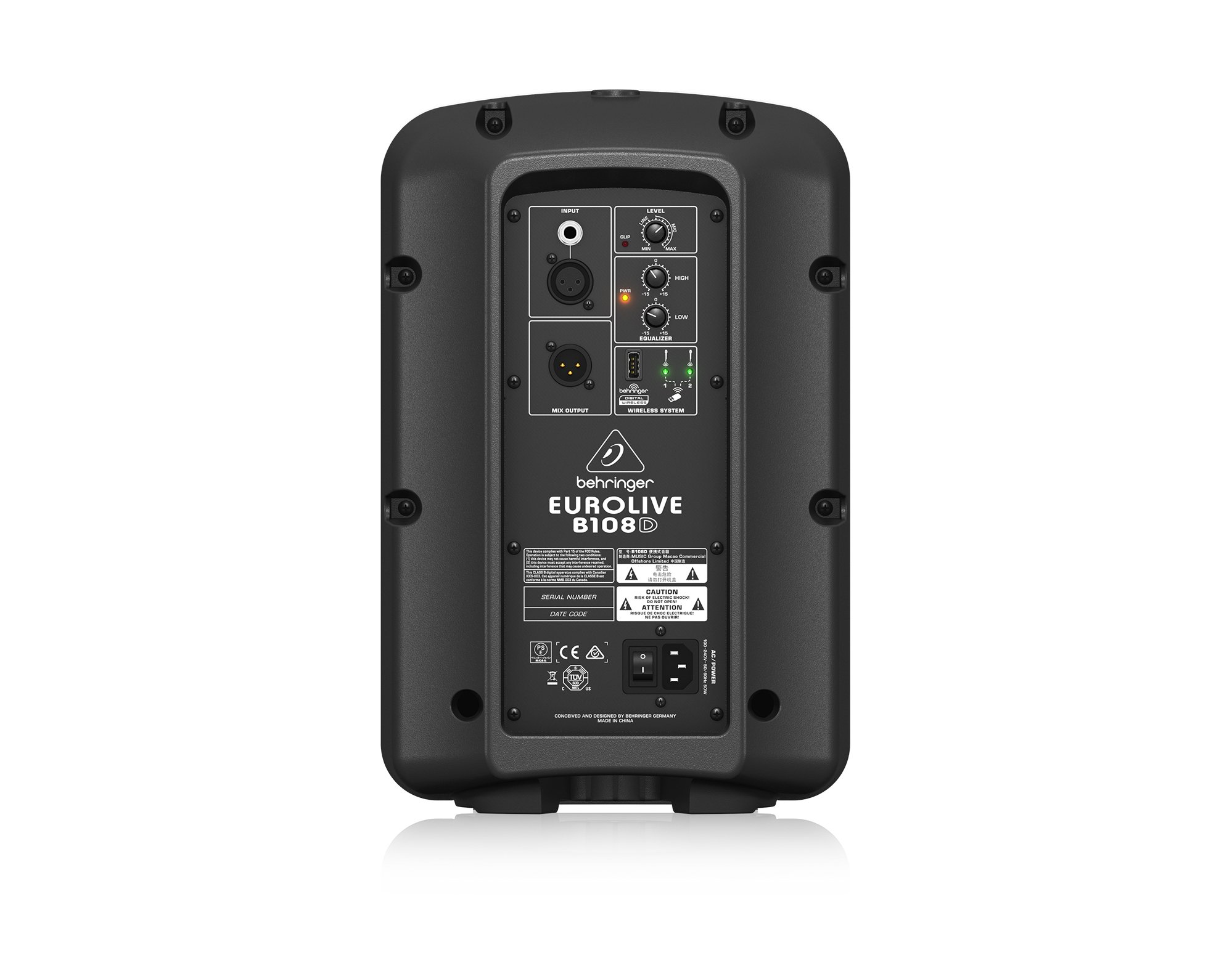 """8"""" 300W 2-Way Active PA Speaker with Ultralink Connectivity"""