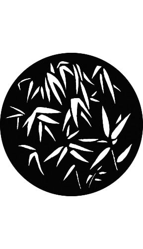 """Large Bamboo Leaves"" Pattern Gobo"