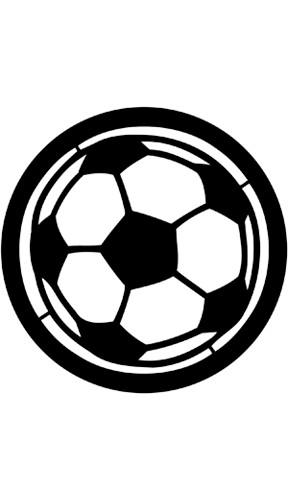 """Football""-Pattern Gobo"
