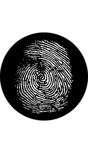 """Fingerprint""-Pattern Gobo"