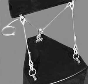 """14"""" Fixed Tilt Cable Kit, Speaker Mount in Silver"""