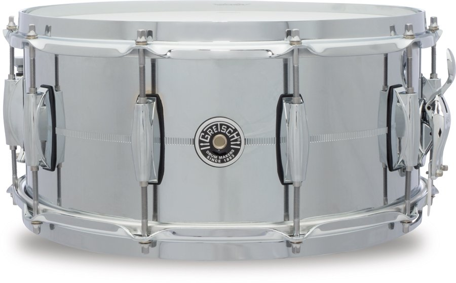 "Gretsch Drums GB4164S 6.5"" x 14' Brooklyn Series 10 Lug Chrome Over Steel Snare Drum GB4164S"