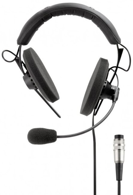Semi-Open 120 Ohm Cardioid Condenser Interpreter Headset with 8-pin DIN Connector