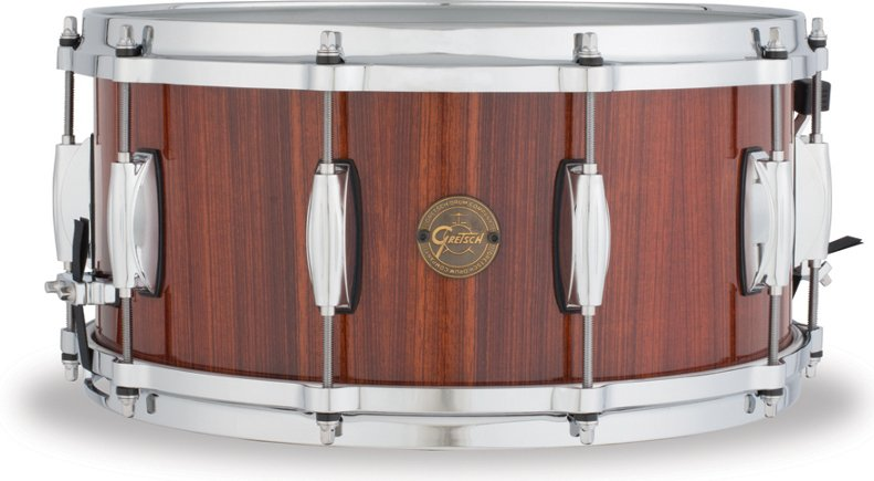 "6.5""x14"" Gold Series 10 Lug 9 Ply Rosewood Snare Drum"