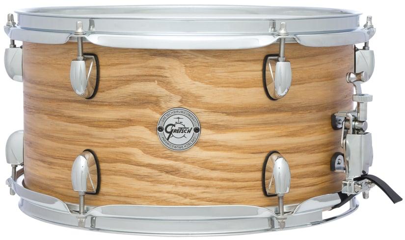 "7""x13"" Silver Series 7 Ply 6 Lug Ash Snare Drum"