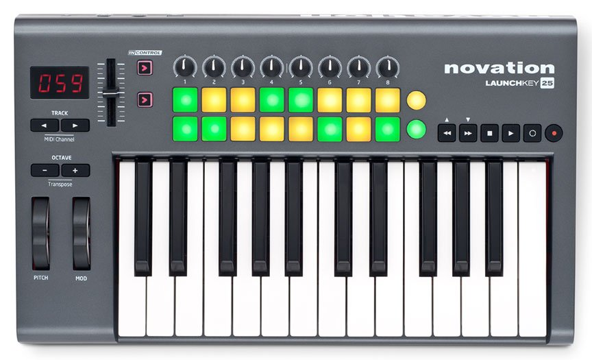 25-Key MIDI Keyboard Controller with Software
