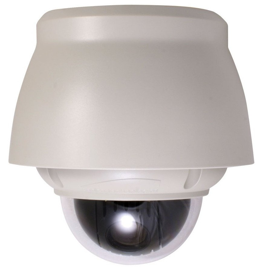 22x All-In-One Outdoor PTZ Dome Camera, 3.9-85.8mm in White Housing