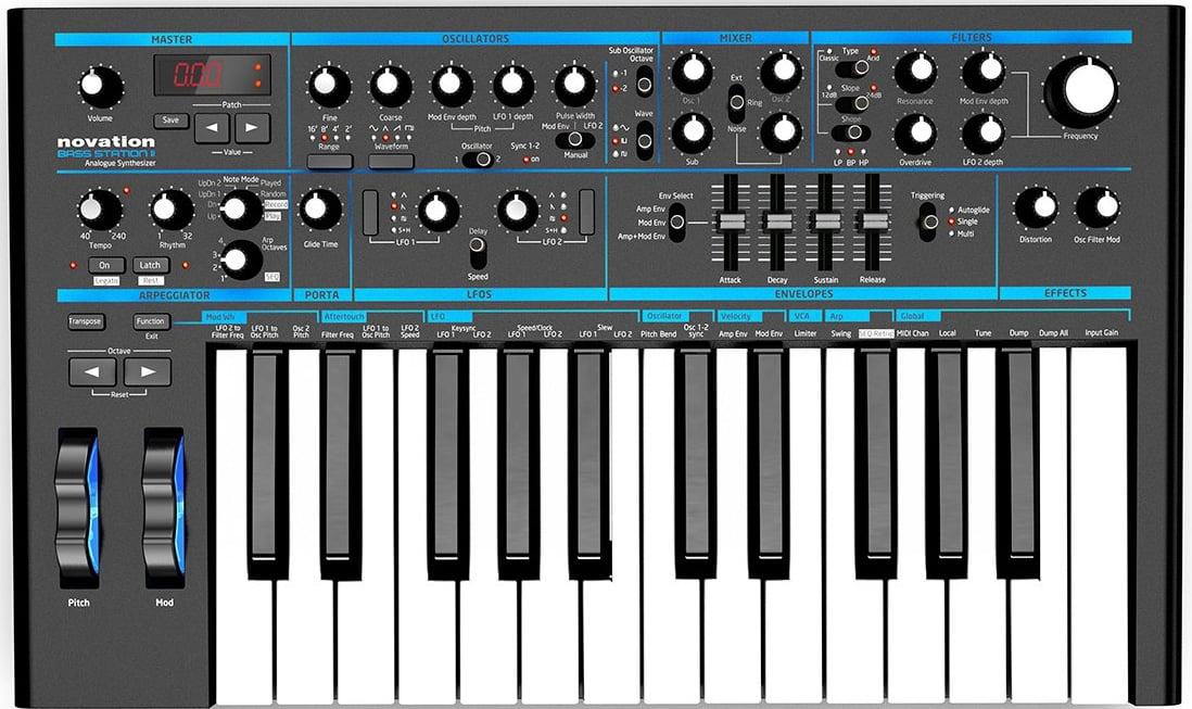 Novation Bass Station II [EDUCATIONAL PRICING] 25-Key Analog Mono-Synth BASS-STATION-II-EDU