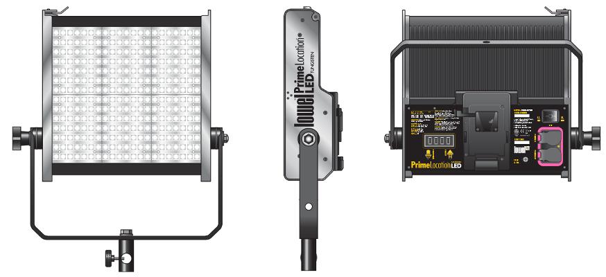 Prime Location Daylight Color 2 LED Light Kit with V-Lock Battery Plate