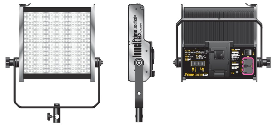 Prime Location Tungsten Color Single LED Light Kit with Gold Mount Battery Plate