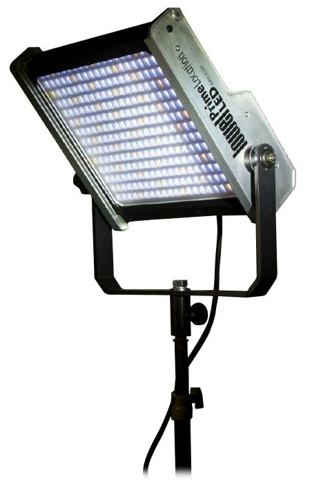 Prime Location Daylight Color Single LED Light Kit with Gold Mount Battery Plate