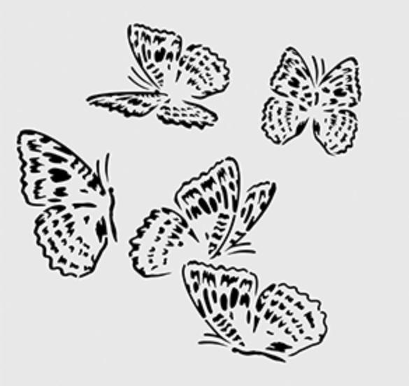 Butterfly Flutters Steel Gobo