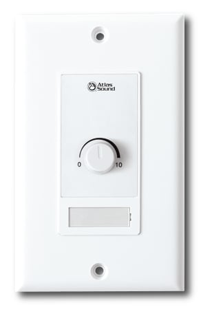 10k Ohm Level Control Wall Plate in White