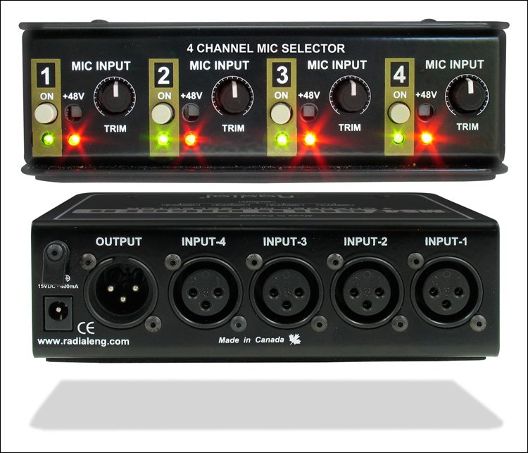 4-Channel Microphone Selector