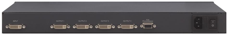 1:4 HDCP Compliant DVI Distribution Amplifier