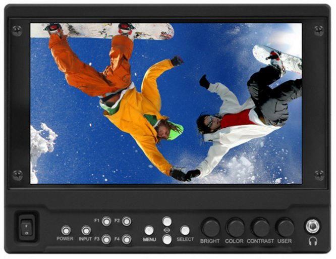 "7"" Full Resolution 1920 x 1080 Camera-Top Monitor with Modular Input/Output"