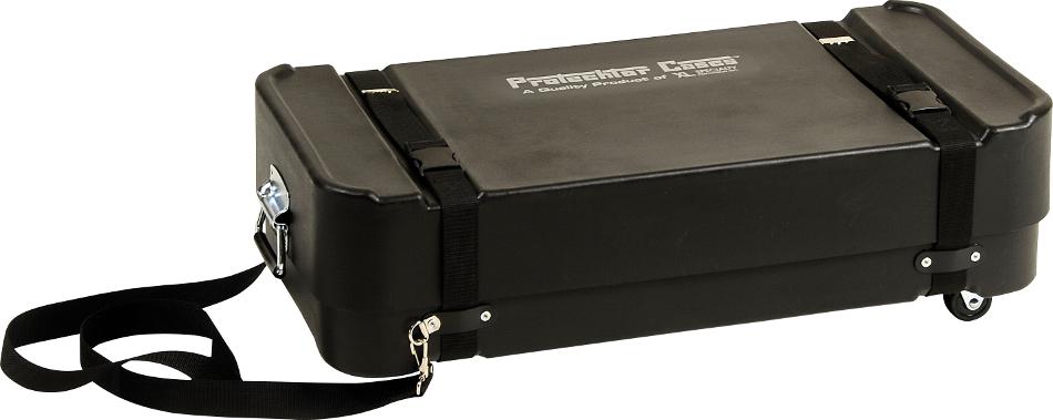Gator Cases GP-PC308W Super-Compact Roto-Molded Drum Accessory Case with Wheels in Black GP-PC308W