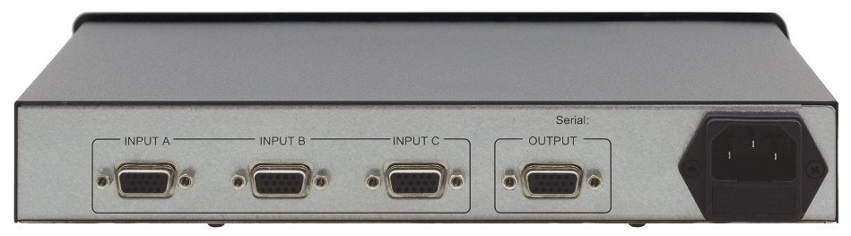 3x1 VGA Switcher with DB15 Connectors