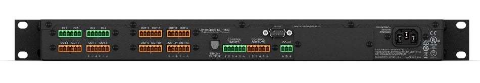 Single-Space Engineered Sound Processor with 4x12 Analog Audio I/O and Built-In ESPLink