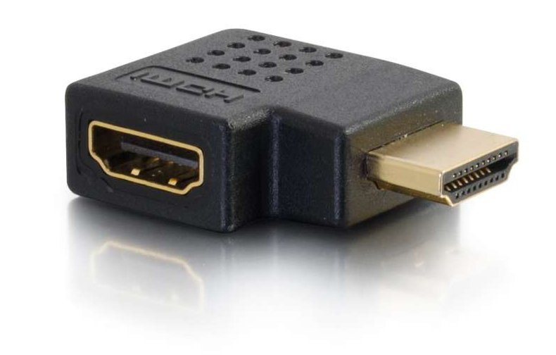 Right Angle HDMI Adapter with Right Exit