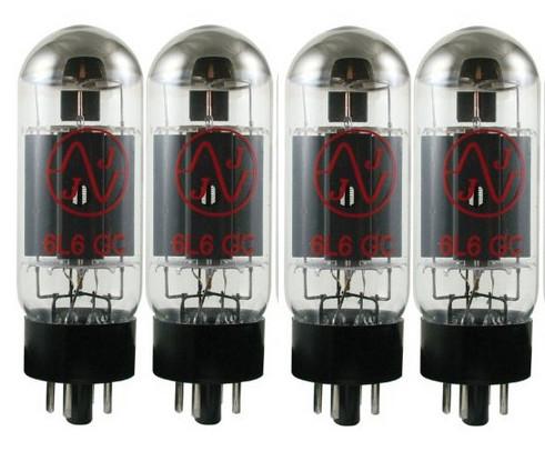 Quartet of 6L6 Power Vacuum Tubes