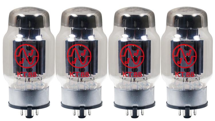 Quartet of KT88 Power Vacuum Tubes