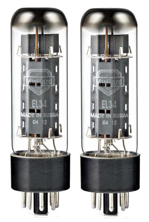 Pair of EL34 Power Vacuum Tubes