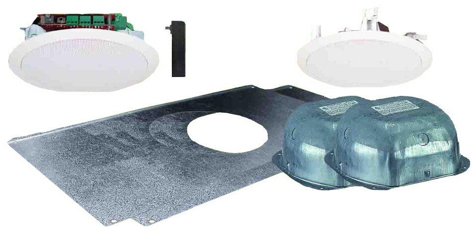 """Dual 5.25"""" Ceiling Speaker Package with Installation Hardware"""