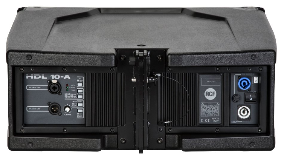 "RCF HDL 10-A 1400W Peak Dual 8"" Active Line Array Speaker Module in Black HDL10-A"