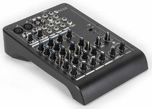 6-Channel Compact Mixer with 2 XLR Inputs