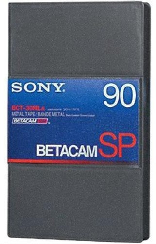Large Cassette 90 Min Betacam SP