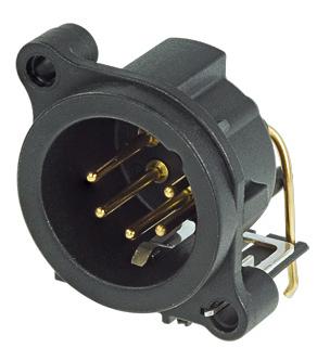 5-Pin XLR-M Horizontal PCB Mount Connector