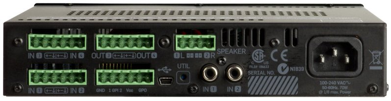 2 x 60W Commercial Power Amplifier with Advanced DSP and 4x4 Mix Matrix