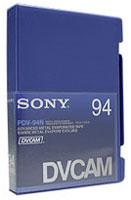 DVCAM Video Cassette, 94 Mins.