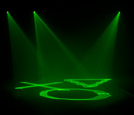 Compact Green Laser Liquid Sky Effect