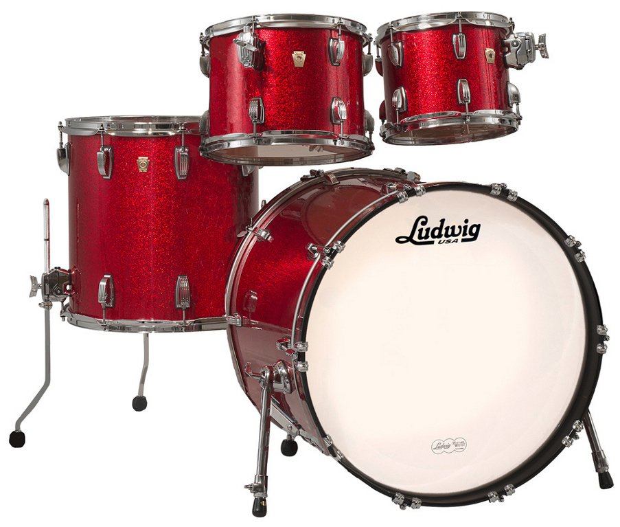 Classic Maple Mod 22 4 Piece Shell Pack in Red Sparkle Finish