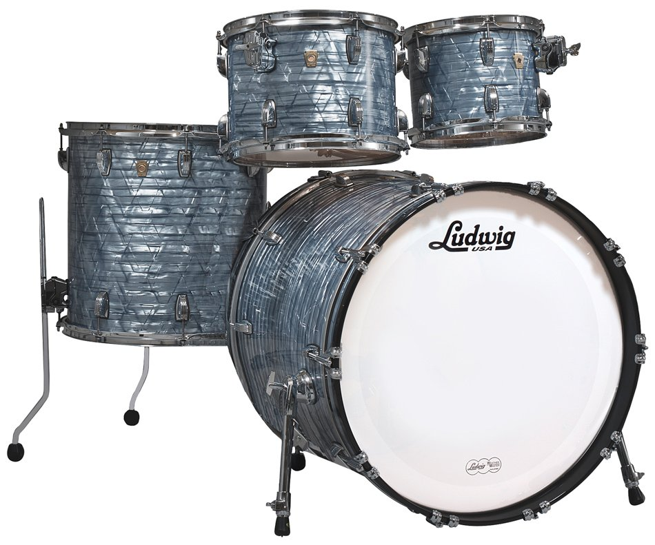 Ludwig Drums L8424AX52 Classic Maple Mod 22 4 Piece Shell Pack in Sky Blue Pearl Finish L8424AX52