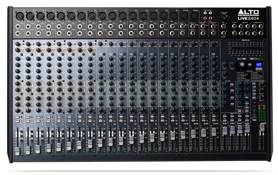 24-Channel 4-Bus Mixer with USB Interface and Built-In DSP Effects