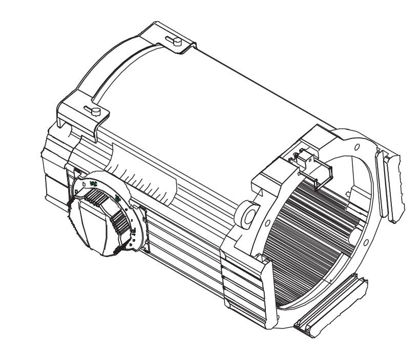 Etc 42550lt 1 25 To 50 Degree Source Four Zoom Lens Tube White