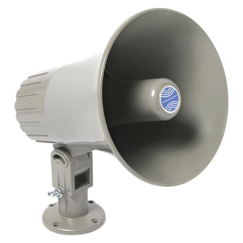 Atlas Sound GA-15T Utility Paging Re-Entrant Horn Loudspeaker with 25/70V 15W Transformer GA15T