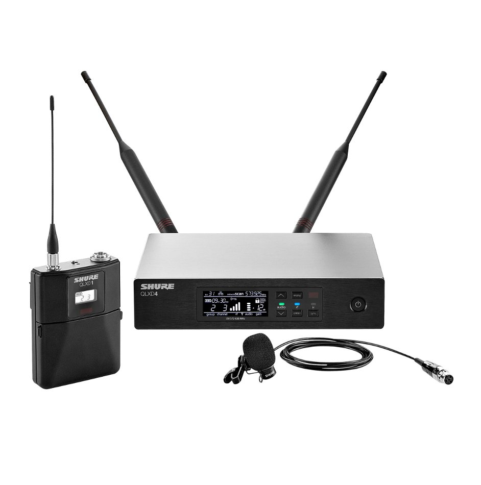 Digital Wireless Lavalier Microphone System with Shure WL184 Microphone