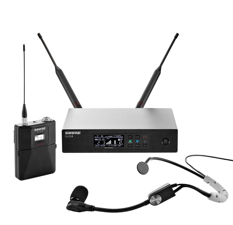 Shure QLXD14/SM35 Digital Wireless Headset Microphone System with Shure SM35 Microphone QLXD14/SM35