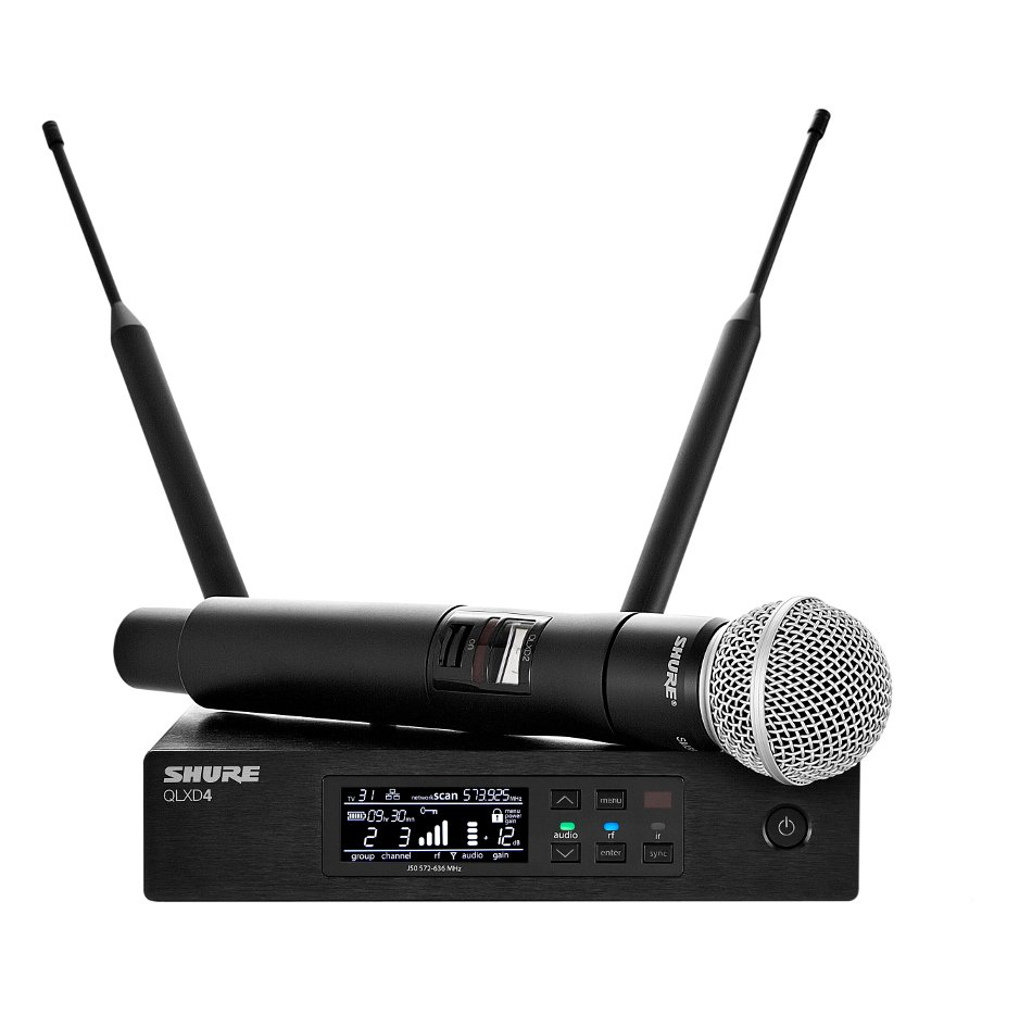 Digital Wireless Handheld Microphone System with SM58 Cartridge