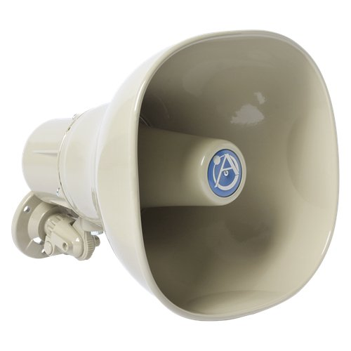 15 Watt Horn Loudspeaker with 25/70/100V Transformer in Beige
