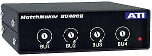 Unidirectional 4-Channel Interface Converter with XLR to RCA
