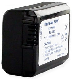 7.2V Sony NP-FW50 Equivalent Replacement Lithium Ion Battery
