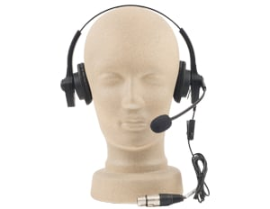Lightweight Headset for ProLink 500 Wireless Intercom System