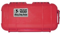 Pelican Cases 1030-S-RD Solid Micro Case with Red Liner PC1030-S-RD