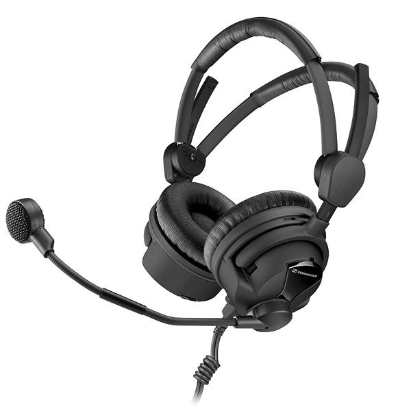 100 Ohm Broadcast Headset with Hypercardioid Dynamic Boom Microphone and Unterminated Ends