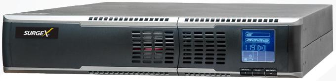 3RU 120V/20A 2000 VA UPS Online Battery Backup with 5x Outlets